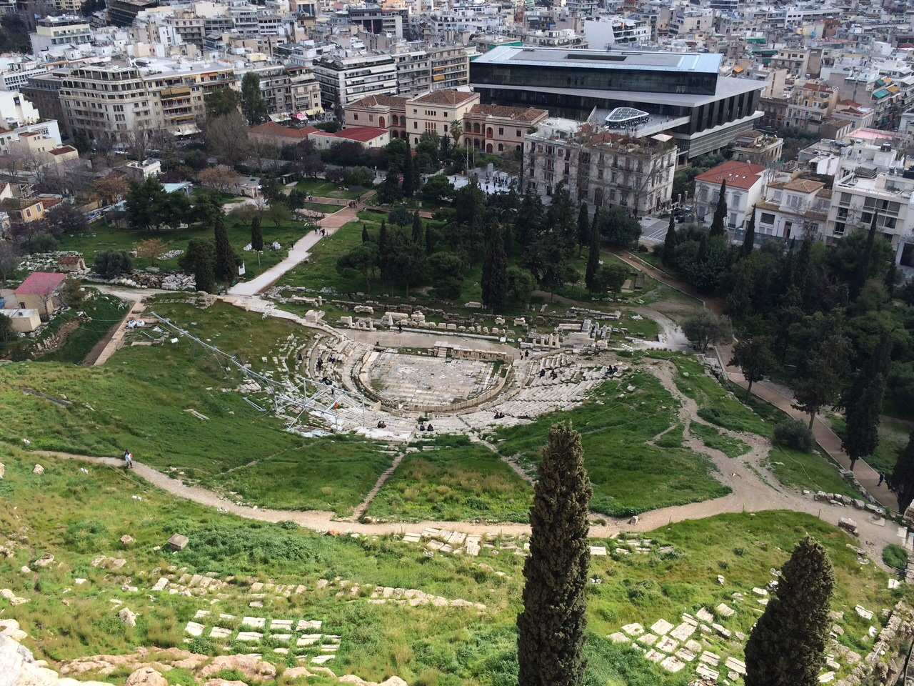 The ruins of the Theatre of Dionysos