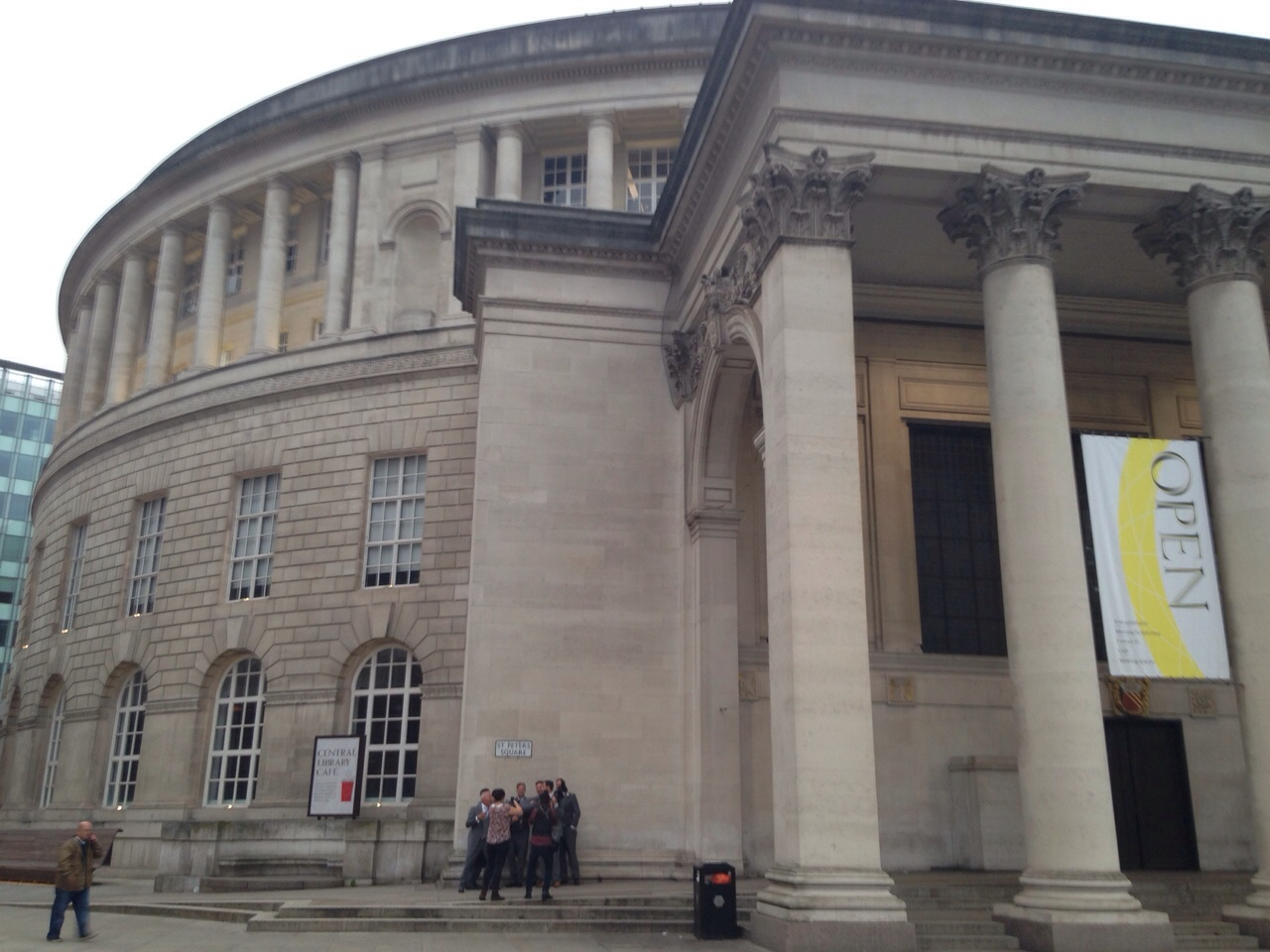 The Manchester Central Library - Grade II listed building. Neoclassical architecture